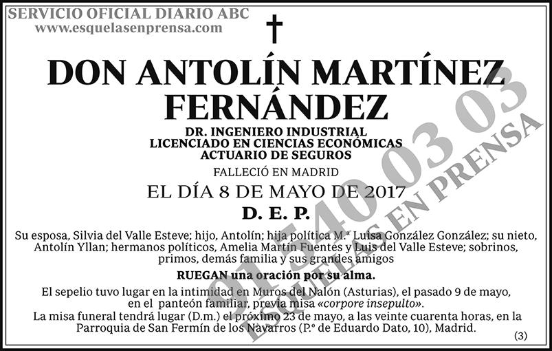 Antolín Martínez Fernández